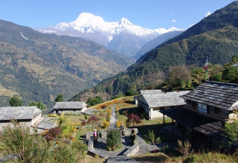 View from Gurung Lodge